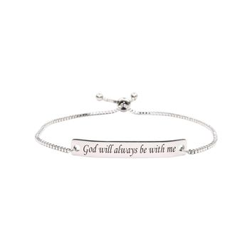Fully Adjustable Inspirational Slider Bracelet  - GOD WITHIN ME