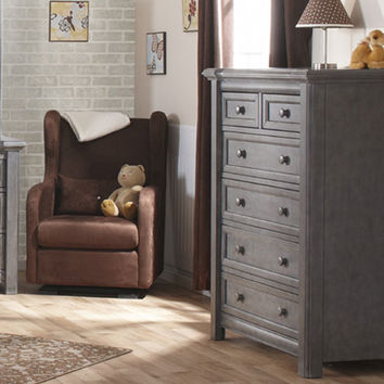 Cristallo Five Drawer Dresser in Granite