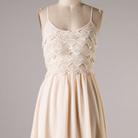 Lace Layers Dress- Blush - Hazel & Olive