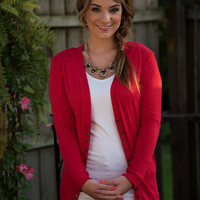 The Amelia Cardigan - Red
