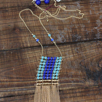 Beaded + Blue Necklace Set