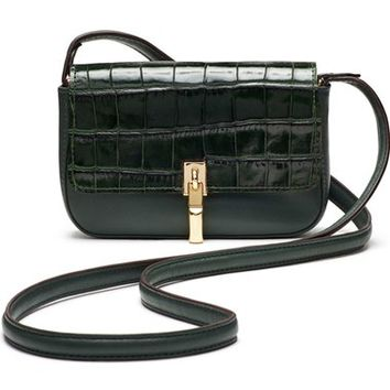 Elizabeth and James 'Cynnie - Micro' Croc Embossed Crossbody Bag | Nordstrom