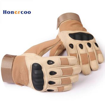 New US Army Tactical Gloves Military Gloves Full finger Combat Mens Warm Glove Slip-resistant Carbon Fiber Mittens