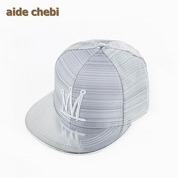 [aide chebi]fashion letter hi folded flat brimmed hat influx of people men  women couple of street hip-hop baseball cap snapback