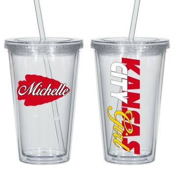 Kansas City Personalized Acrylic Cup - Perfect Gift - Free Shipping