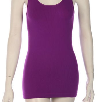 Long Purple Tunic Tank