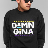 Adapt Advancers — Damn Gina (Men's Black Crewneck Sweatshirt)