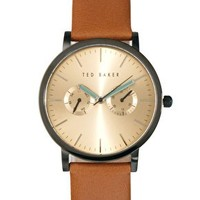 Ted Baker Leather Strap Watch TE1094 at asos.com