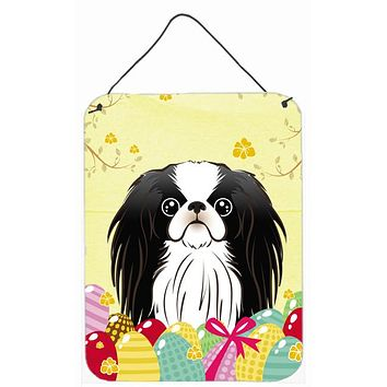 Japanese Chin Easter Egg Hunt Wall or Door Hanging Prints BB1912DS1216