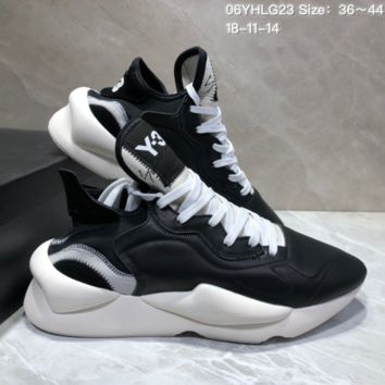 KUYOU A456 Adidas Sneakerhead Y-3 Fashion Running Shoes Black White