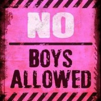 No Boys Allowed Pink Metal  Sign