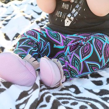 Neon Feathers Leggings & Shorts- Kids/ Toddlers