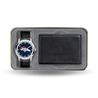 Denver Broncos NFL Men's Watch & Wallet Gift Set