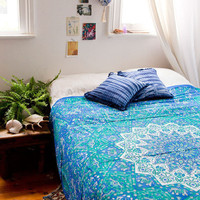 Blue Psychedelic Star Mandala Hippie Wall Hanging Bedspread Wall Hangi – TheNanoDesigns
