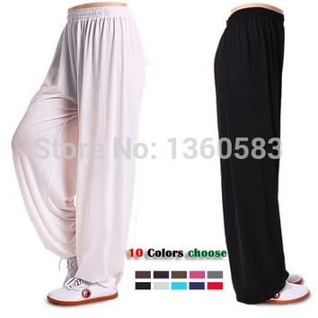 New Yoga tai chi pants bloomers trousers fitness dance pants kung fu cropped pants running pants both men and women