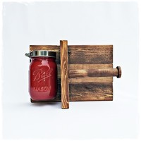 Rustic Toilet Paper Holder - Red