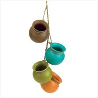 Cute Dangling Mini Pots | GiftBytes - Home & Garden on ArtFire