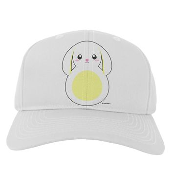 Cute Bunny with Floppy Ears - Yellow Adult Baseball Cap Hat by TooLoud