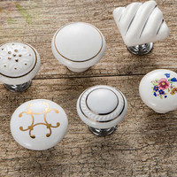 Dresser Pulls Drawer Pull Porcelain / Cabinet Door Pulls konbs / Furniture Hardware Ceramic Dresser handle
