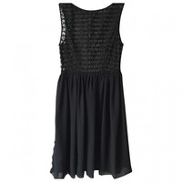 Lace dress AMERICAN APPAREL Black