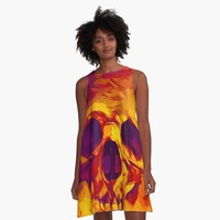 'Skull and Roses' A-Line Dress by hypnotzd