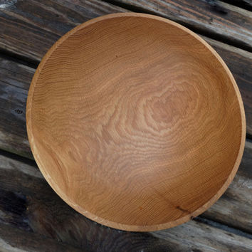 Large White Oak Wooden Bowl, Harvested in New Hampshire, Hand Turned Deep Salad Bowl, Food Safe, Lovely Wedding Gift or Housewarming Gift