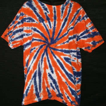 Hand Dyed 2 Color Tie Dye Shirt (Auburn/Florida/Broncos)  | Hanes or Gildan | Youth or Adult