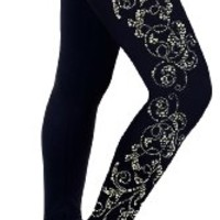 Figure Skating Practice Pants with Rhinestones R52 (Adult Medium)