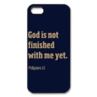Custom Bible Verse Hard Back Cover Case for iPhone 5/5s OB-1610