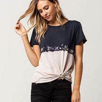 SOCIALITE Destructed Womens Tee