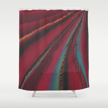 Cozy Sweater - glitch- Shower Curtain by DuckyB