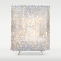 Glimmer of Light II (Ombré Glitter Abstract*) Shower Curtain by Soaring Anchor Designs