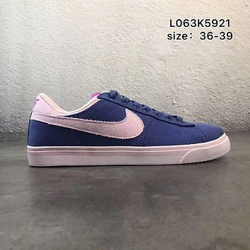 NIKE COURT ROYALE canvas low to help wild school board shoes F-PSXY Blue