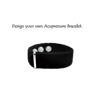 Design your own Acupressure Anxiety Bracelet, Stress Relief Gift, Emotional Stability (single)