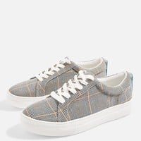 Chloe Check Lace Up Trainers | Topshop