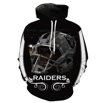 Fashion Men women 3d Sweatshirts Oakland marshawn lynch Hoody Hoodies With Cap Tops for Raiders fans gift