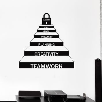 Vinyl Wall Decal Teamwork Office Space Success Motivation Career Ladder Stickers Mural Unique Gift (ig5211)