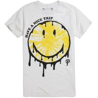 Vanguard Have A Nice Trip T-Shirt - Mens Tee - Off White