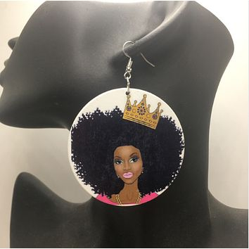 Crown Royale Earrings | Natural hair earrings | Afrocentric earrings | jewelry | accessories