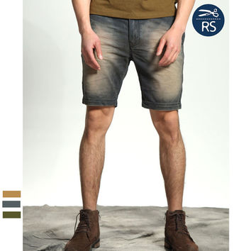 Casual Men's Fashion Summer Fashion Simple Design Weathered Pants [10422073987]