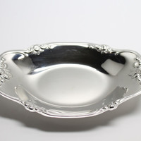 MSJ Stainless Steel Japan Small Tray with Rose Handles and Label