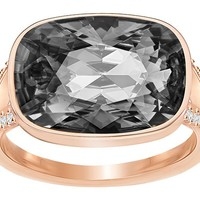 Swarovski | Holding Ring, Gray, Rose gold plating