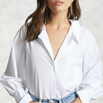 Oversized Cutout Shirt