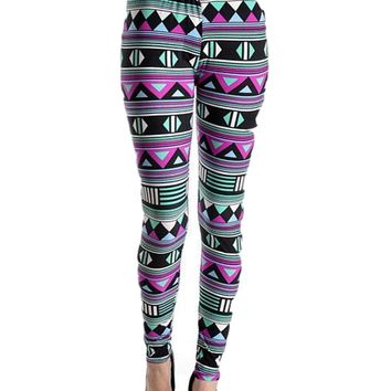 Multi Printed Leggings, Multi  (OS Fits Most)