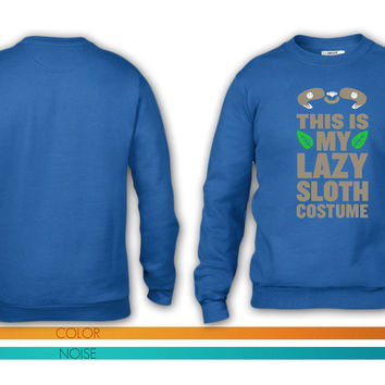 This Is My Lazy Sloth Costume 9 crewneck sweatshirt