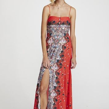 Free People - Red Multi Morning Song Printed Maxi Dress