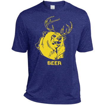 Mac's BEER shirt from Always Sunny  TST360 Sport-Tek Tall Heather Dri-Fit Moisture-Wicking T-Shirt