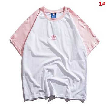 Adidas Fashion New Letter Print Women Men Top T-Shirt 1#