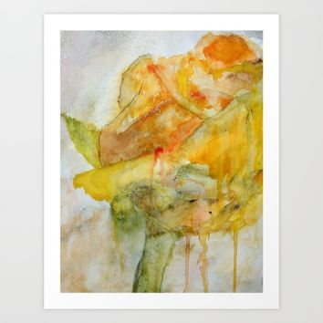 Yellow Rose of Texas Art Print by  Kay Weber