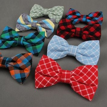 Men's Cloth Plaid Bow Ties For Wedding Party Fashion Formal Wear Business Suit Bow Ties Cravats Accessories